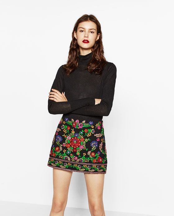 749069488 Image 2 of EMBROIDERED MINI SKIRT from Zara | Style inspiration in ...