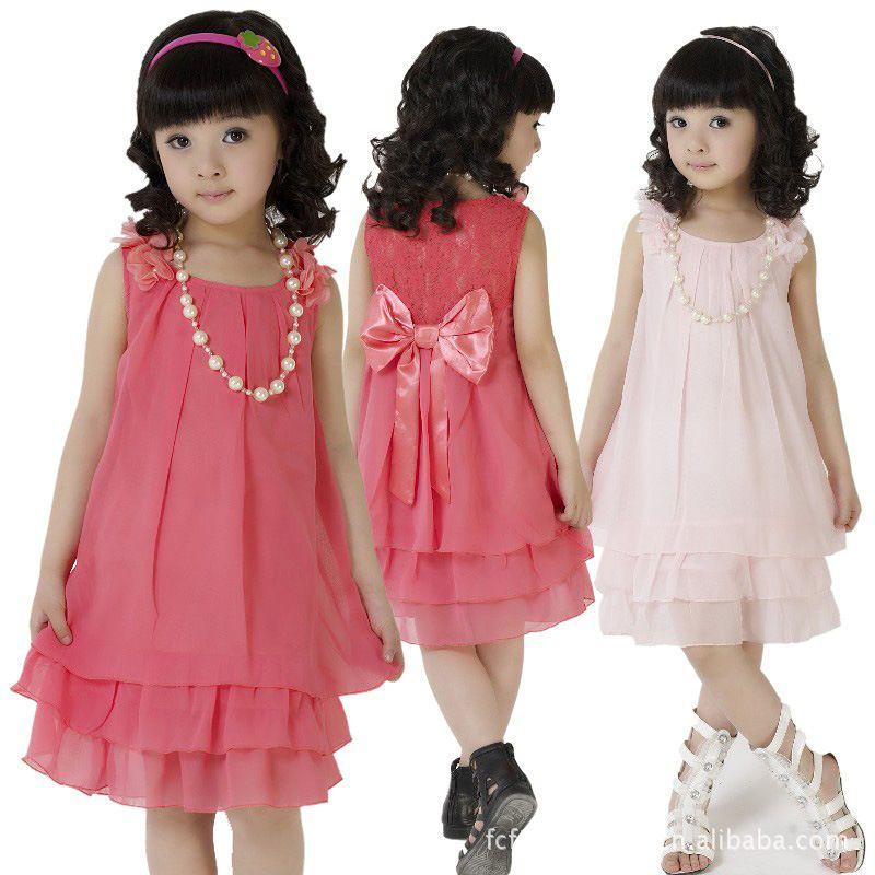 vestidos de moda para niña de moda ropa para niños | closet Mimors ...