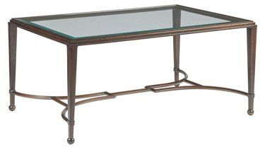 Sangiovese Coffee Table Antiqued Copper Artistica Table