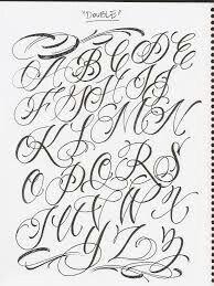Fancy Lettering Tattoo Ideas Cursive Fonts Alphabet Lettering