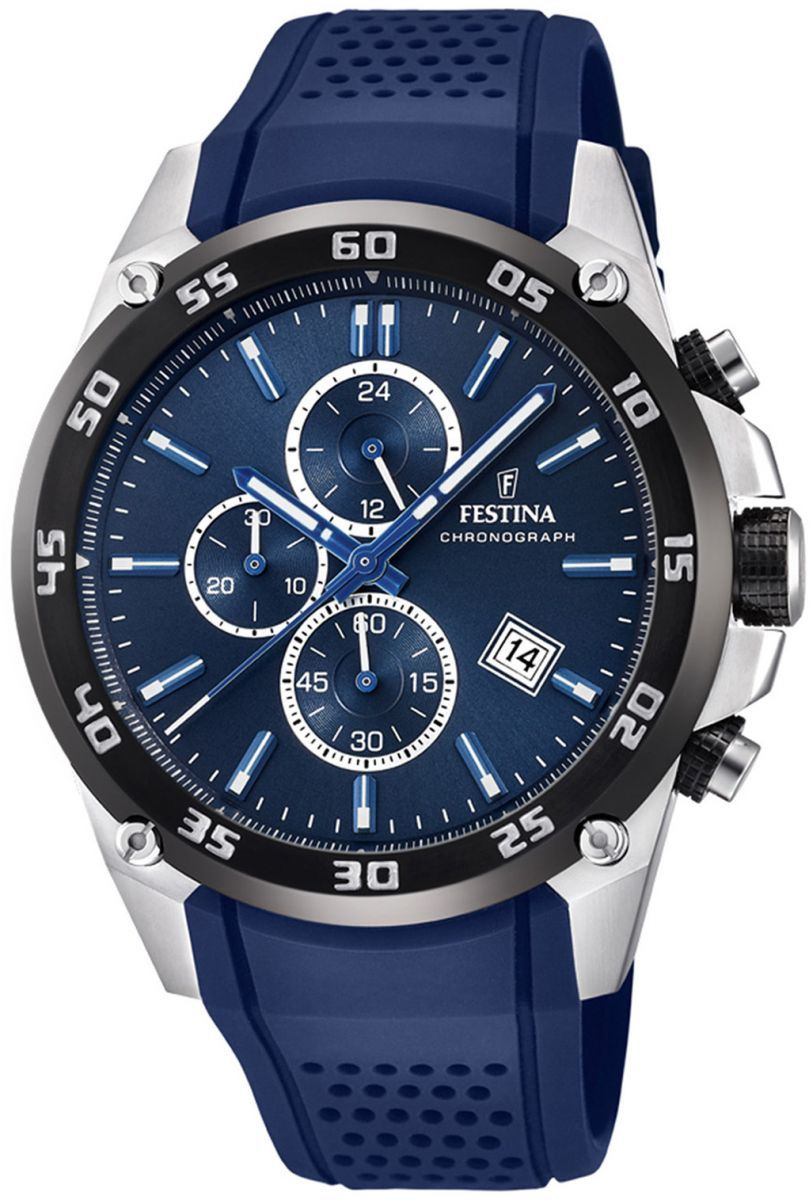 Festina Originals Mens Dark Blue Dial Rubber Band Watch F20330 2 Casio Edifice 543d Stainless Silver Chrono Men Price Review And Buy Egypt Souq