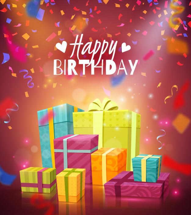お誕生日おめでとうグリーティングカードを無料でダウンロード 2020 誕生日画像 誕生日のお祝いの画像 誕生日グリーティングカード