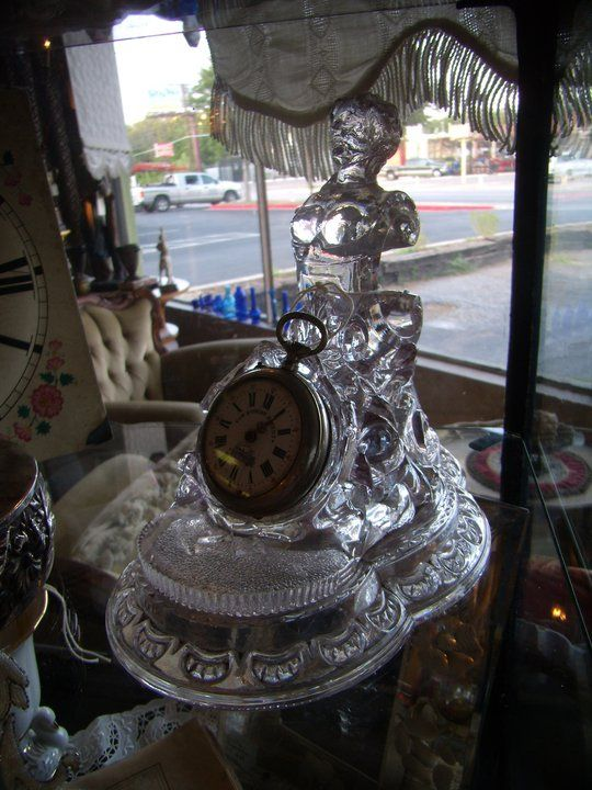 Gypsies Antiques: Victorian lavendar glass pocket watchholder