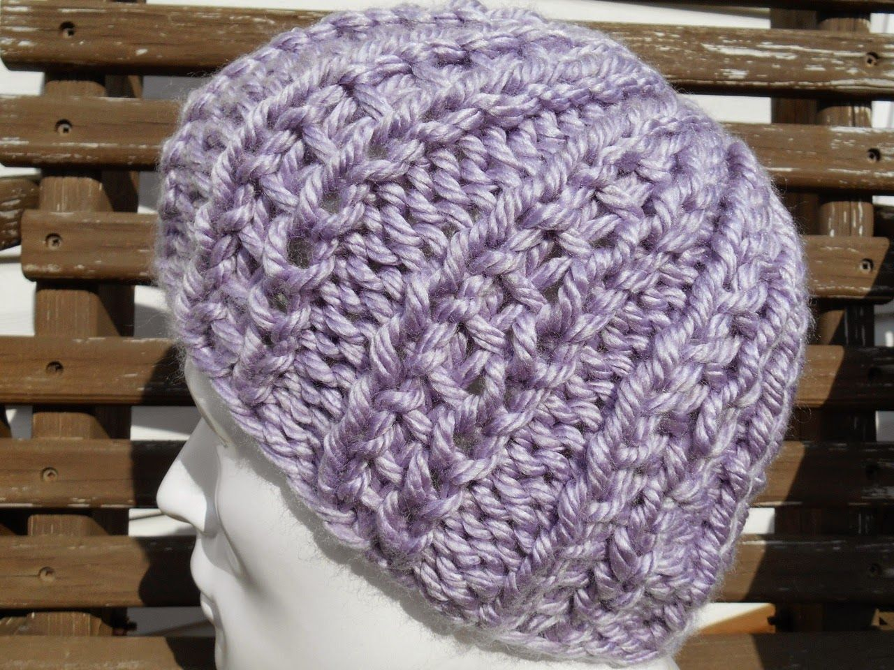 uses size 13 needles, ladders of love hat free pattern | Chunky Knit ...