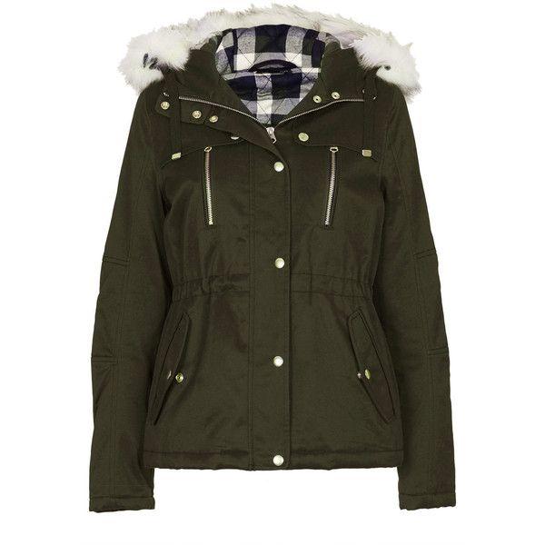 TOPSHOP Short Padded Parka Jacket (1.460 UYU) ❤ liked on Polyvore ...