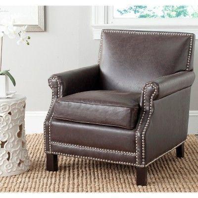 Savannah Club Chair   Espresso (Brown)   Safavieh