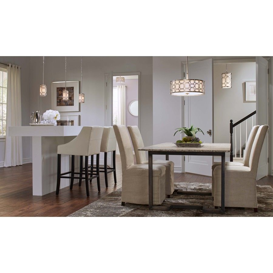Kichler Dining Room Lighting Gorgeous Shop Kichler Lighting Sabine 425In Brushed Nickel Mini Pendant Decorating Design