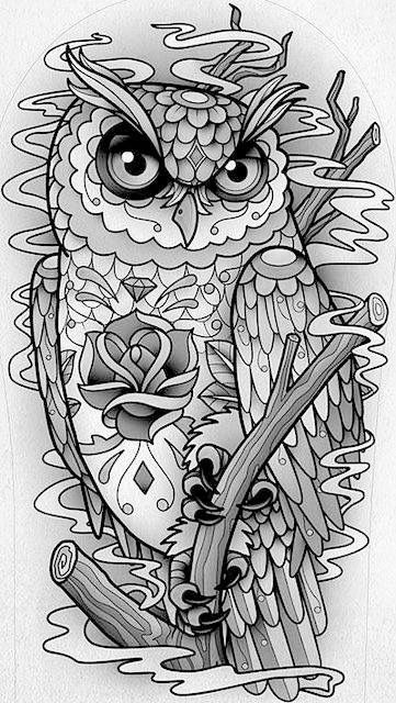 Pin By Chris V On Neo Trad Pinterest Chouette Chouette Hibou