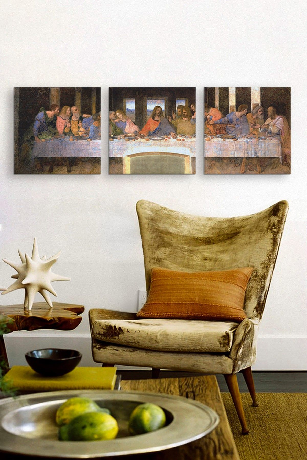 The Last Supper By Leonardo Da Vinci Panoramic Canvas Print Set