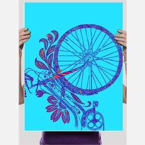 Flower Bike Poster, $25, now featured on Fab.