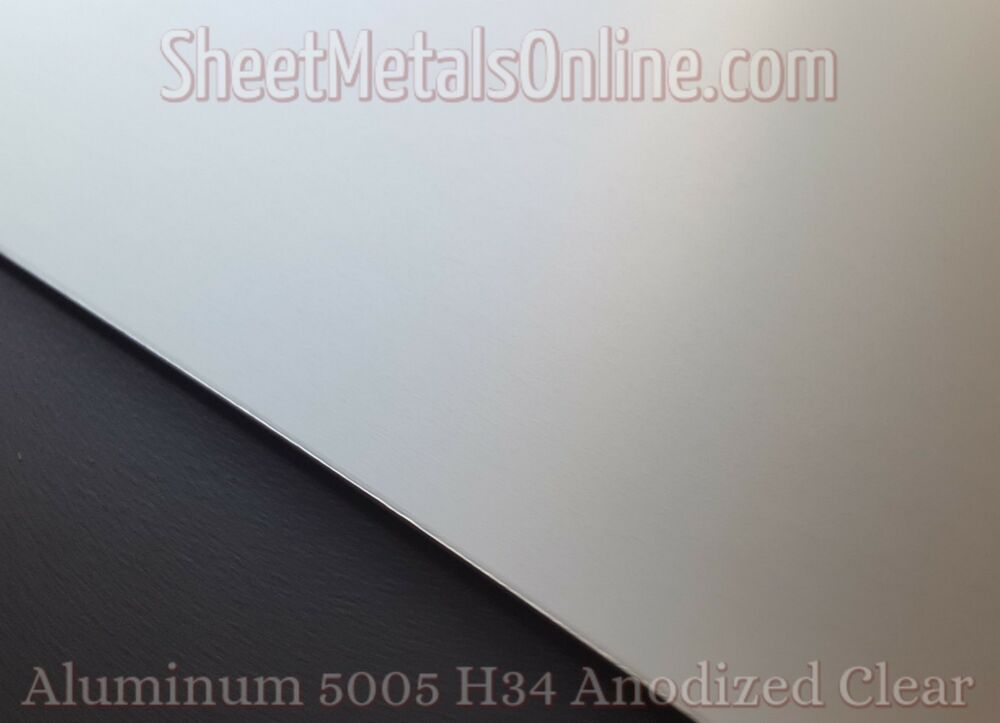 Aluminum Sheet Metal 5005 Clear Anodized 0 125 1 8 24 X 12 Sheetmetalsonlinecom