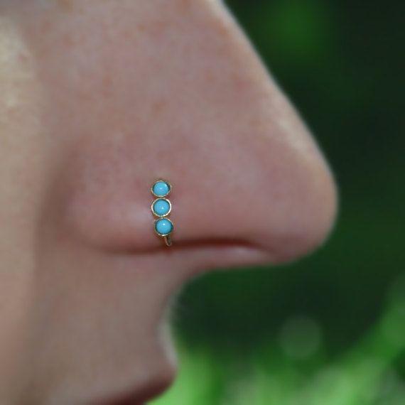 INFINITY* 22 Gauge ga Helix Tragus Cartilage 14k Gold Filled Nose Ring Post