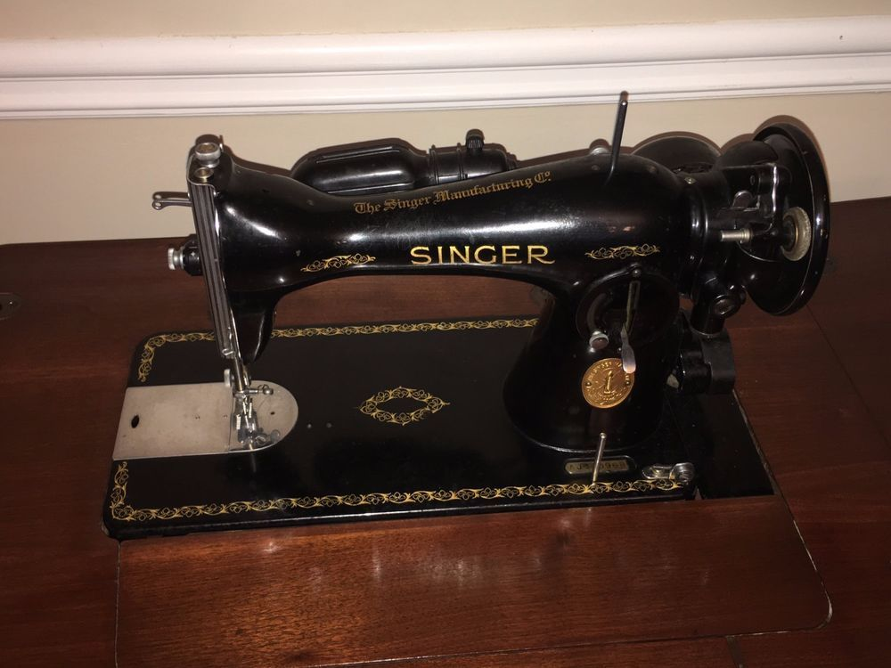 40 Singer Sewing Machine Model 4040 WCabinet Gear Driven New Antique Singer Sewing Machine Model 15 91