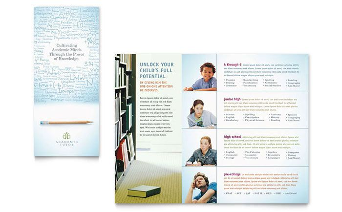 Education Foundation and School Tri Fold Brochure Design Template - school brochure template