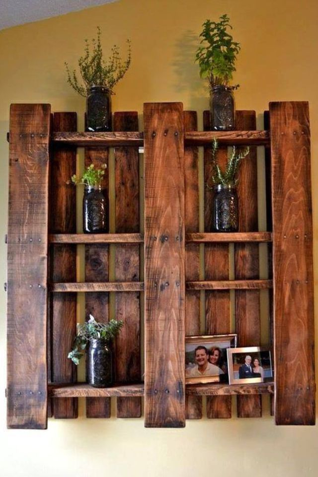 Pallet shelf Home decor Pinterest Palette, Santé nutrition et