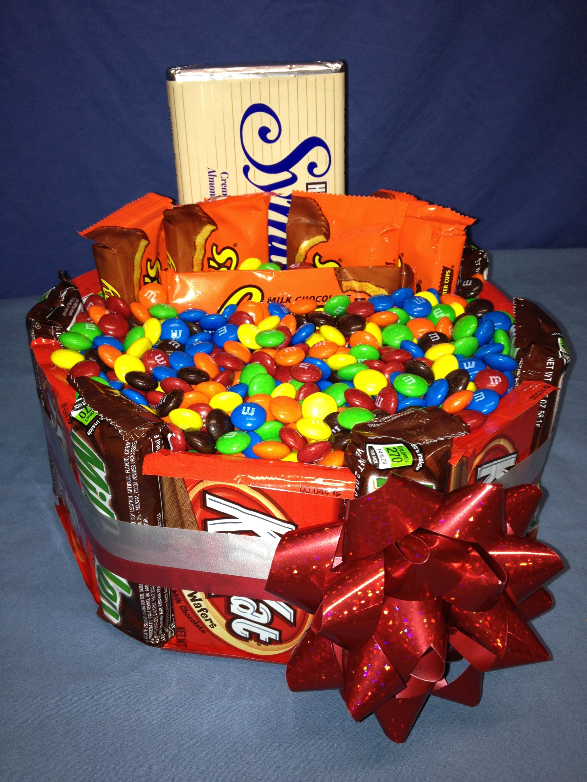 Candy K Whatlucyloves: M's, Reese's, Kit-Kat, Hershey, Milky-Way Candy Bar Gift