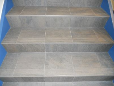 Can You Tile Stairs | Stair Tread Tile   American Bullnose Company