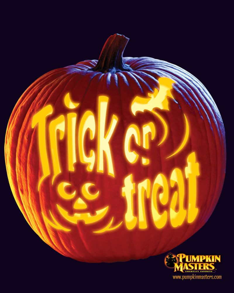Uncategorized Trick Or Treat Stencil trick or treat from pumpkin masters check this one and other free patterns