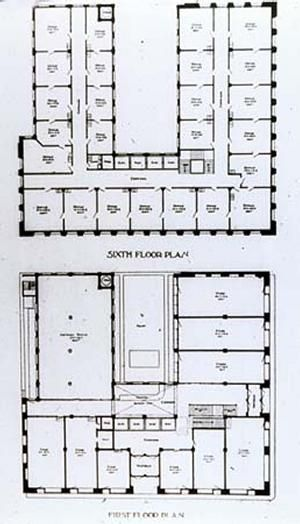 Wainwright building 1890 91 st louis planta em u for Sullivan floor plan