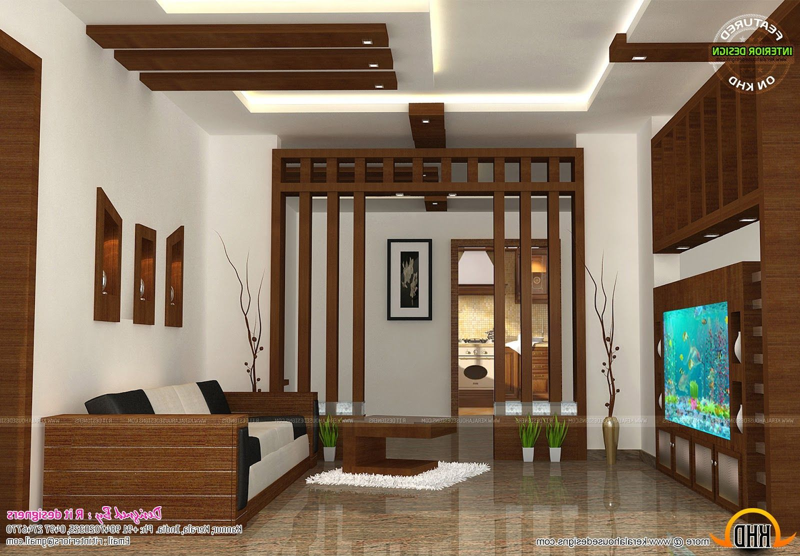 interior design living room kerala  Living room kerala, Interior