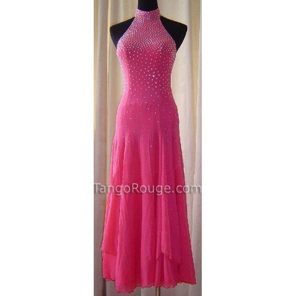 Posie Pink Halter Ballroom Waltz Dance Dress