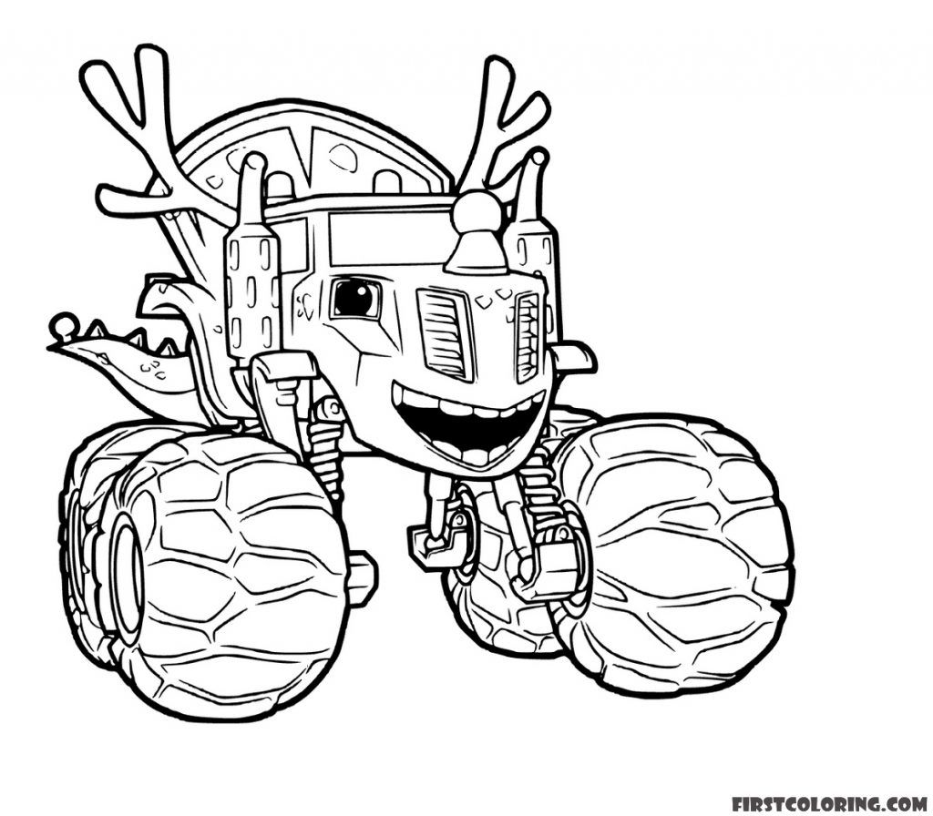 Blaze And The Monster Machines Coloring Pages First Coloring For Our Children Cartoon Coloring Pages Coloring Pages Monster