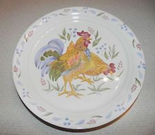 Corelle 20 PC SANDSTONE Beige COUNTRY MORNING Rooster DINNERWARE SET ...