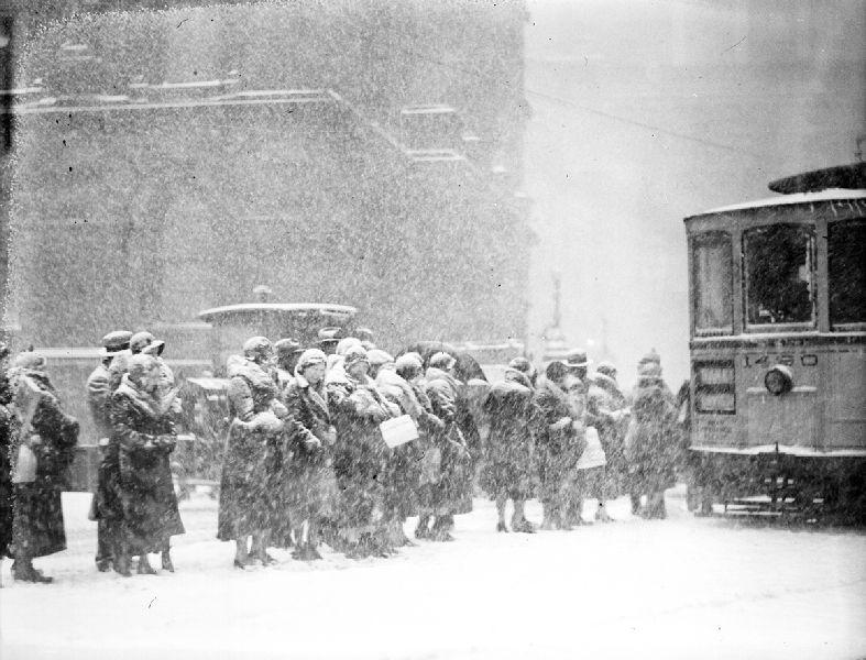 Snowy Weather 1930s Detroit