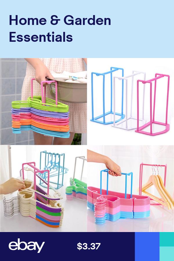 Smart Design Clothes Hanger Stacker Holder Storage Organizer Rack 4Color MAB Kf