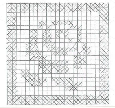 Rose crochet filet chart