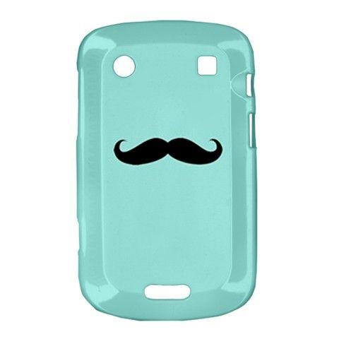 Tiffany Mustache Blackberry Bold Touch 9900 9930 Hardshell Case Cover