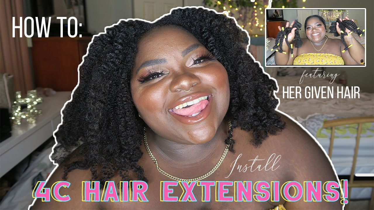 4C Hair Extensions made simple! Using Her Given Hair! Check it out!         #Raesrays #beauty #fashion #lifestyle #4c #4chair #4chairextensions #4chairstyles #extentions #natural #blackbeauty # hergivenhair # makeup #naturalistas #plussize #blog #howto #hairtutorial #growth #coilyhair #naturalhaircommunity #moisturize #teamnatural #blackgirlmagic #kinkyhair #4chairdaily #braidout #hergivenhaircoily