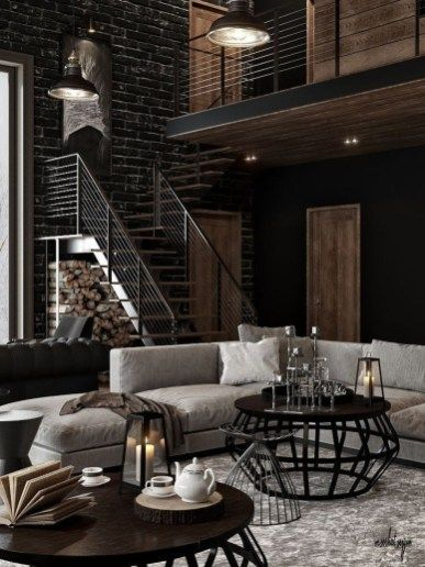 20+ Lovely Farmhouse Living Room Decor Ideas - COODECOR #industrialfarmhouselivingroom
