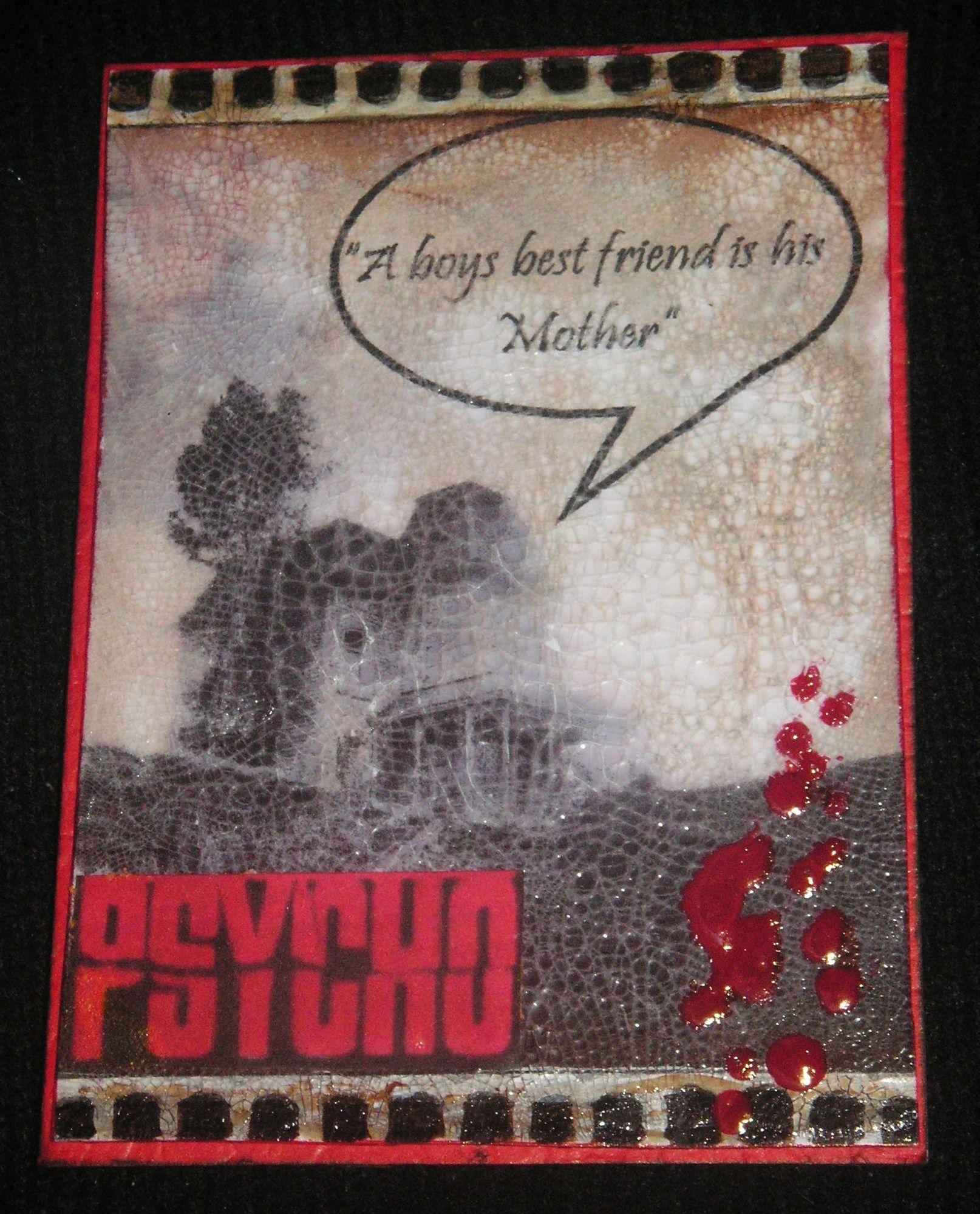 Psycho - Distressed & Crackled