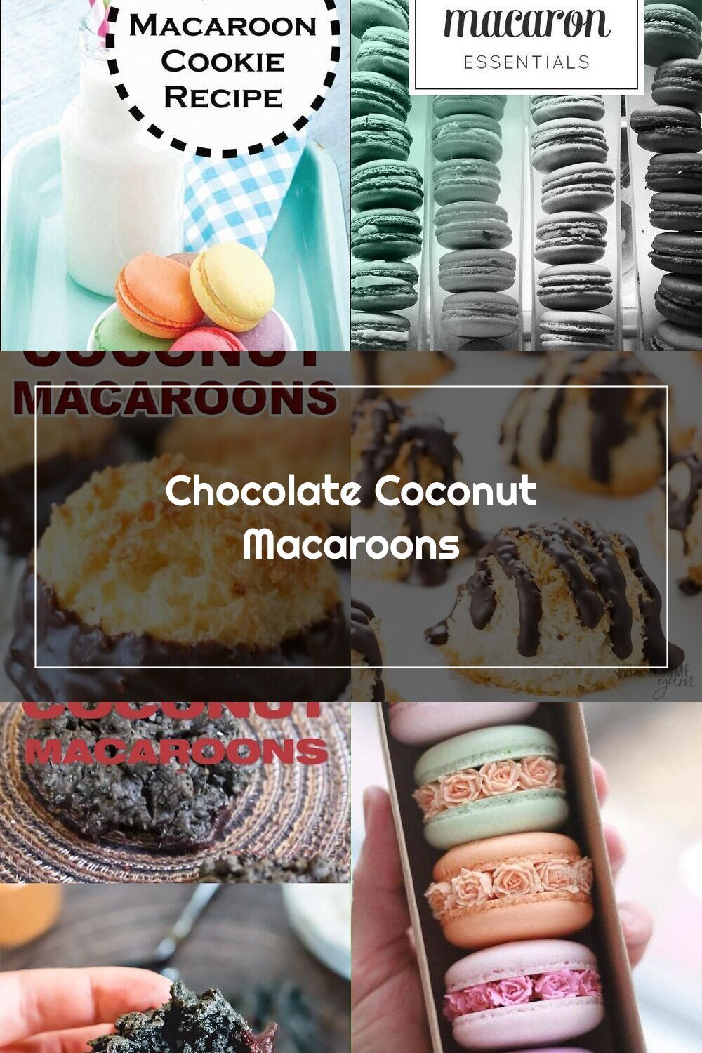 A Recipe For Easy Chocolate Coconut Macaroons Made With Sweetened Condensed In 2020 Chocolate Coconut Macaroons Macaroons Easy Chocolate