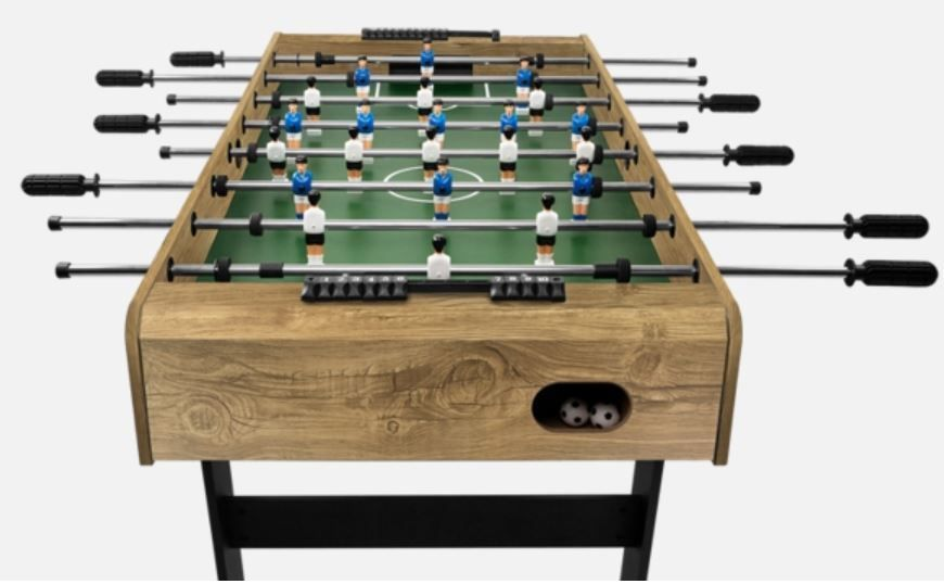 Football Table Folding Foosball Soccer Table ProyaSport S11 Wood Effect |  EBay