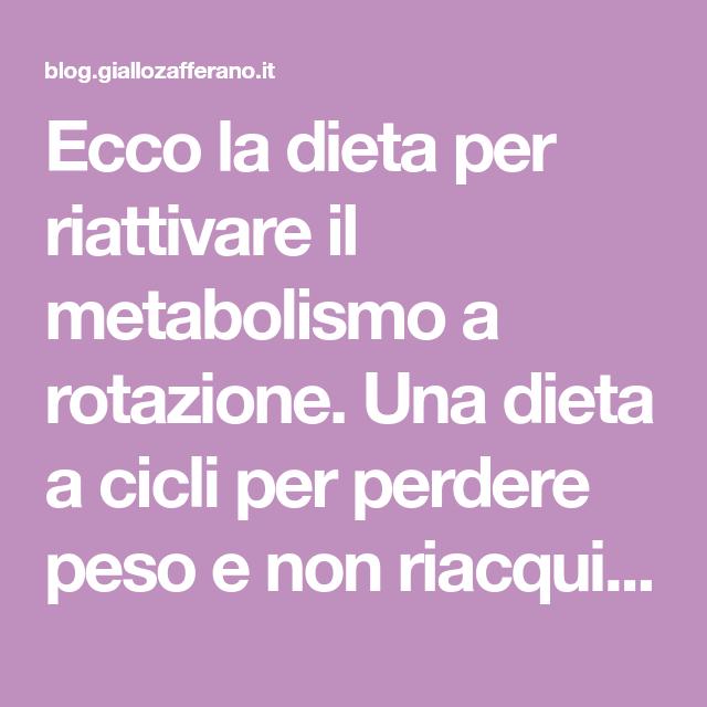 rotazione per perdita di peso
