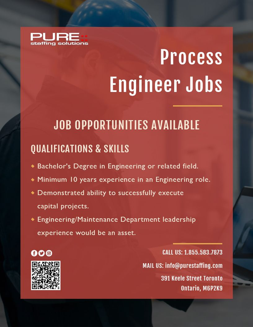 We Are Hiring Process Engineer Jobs E Mail Symbol Info Purestaffing Com 1 855 583 7873 Apply Here Ht In 2020 Process Engineering Employment Agency Hiring Process
