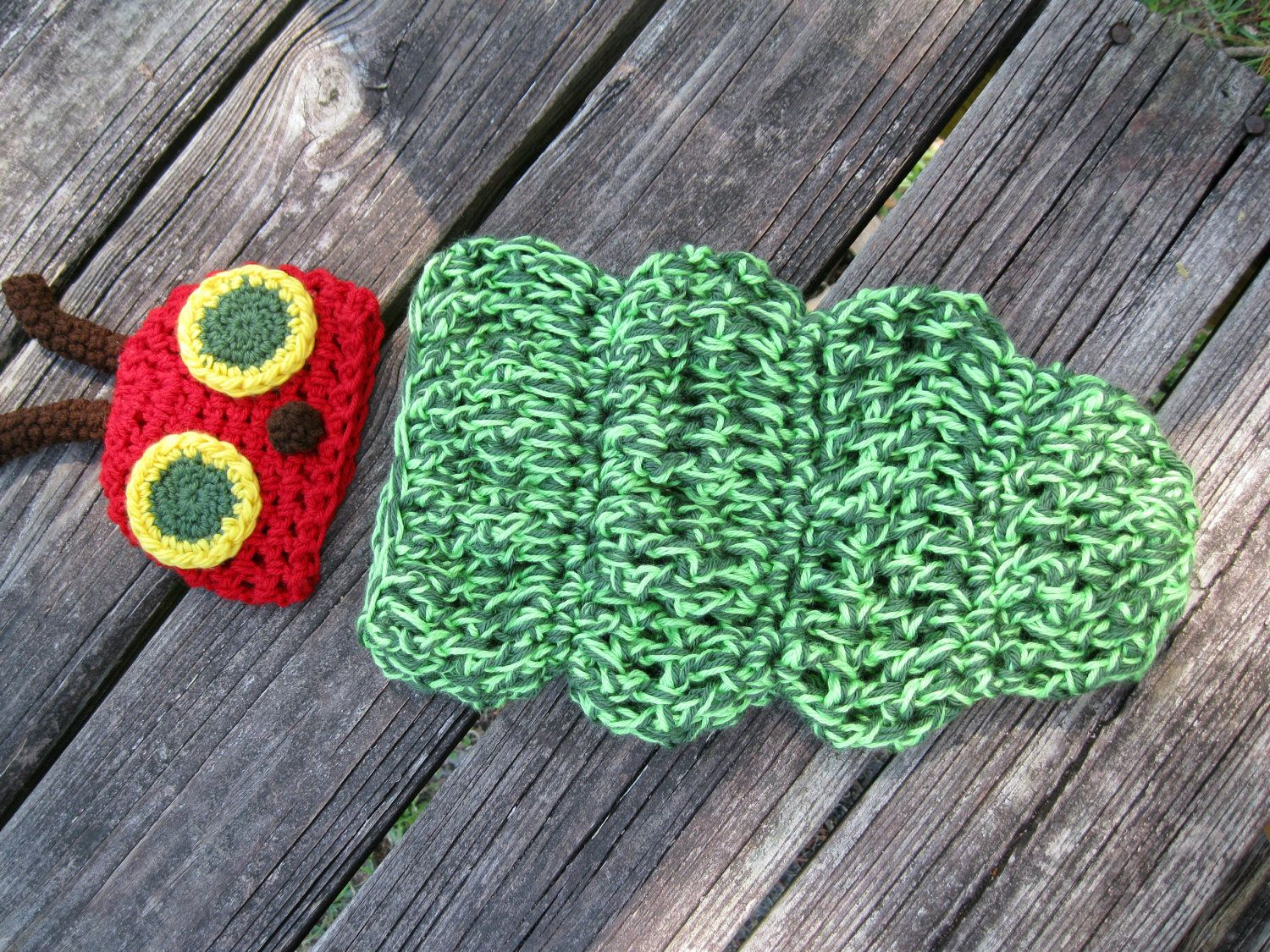 The Very Hungry Caterpillar Crocheted Baby Outfit --Great ...