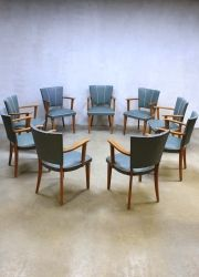 Fifties vintage design eetkamer stoelen, vintage retro dinner chairs ...