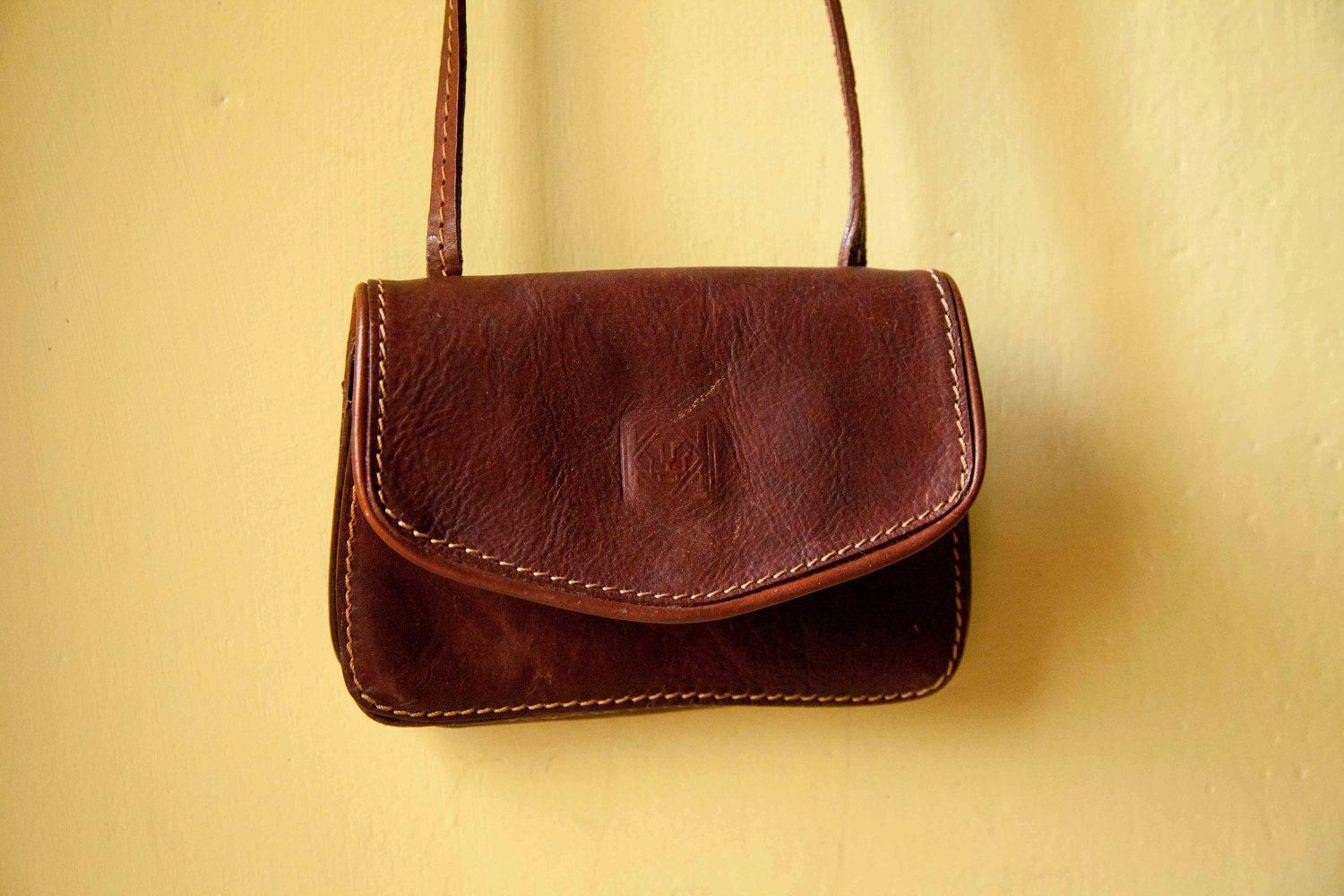 70s Vintage Leather Bag Brown Shoulder Made In Italy From Florence 30 00 Via Etsy