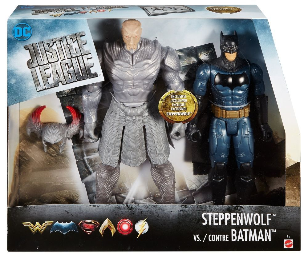 Dc Comics Justice League Movie Batman Vs Steppenwolf Figures Box Toys Kit Gift Batman Vs Batman Action Figures