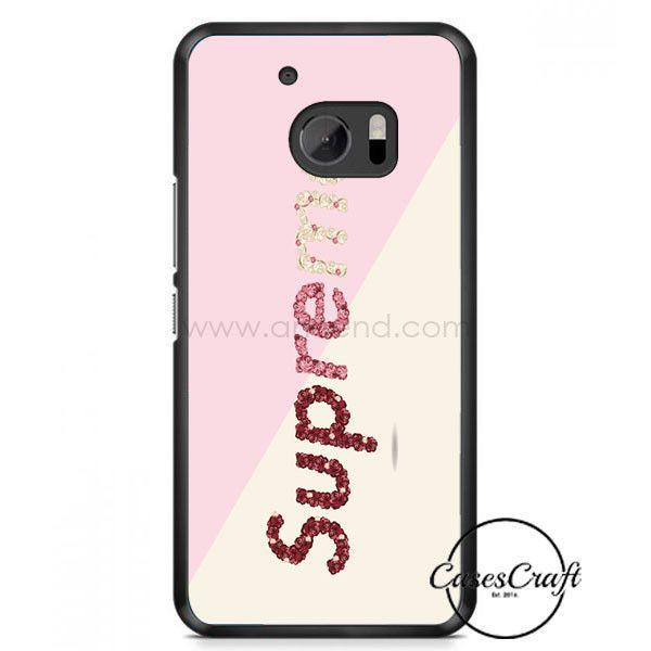 Upreme Flower Pattern Pink Cream HTC One M10 Case