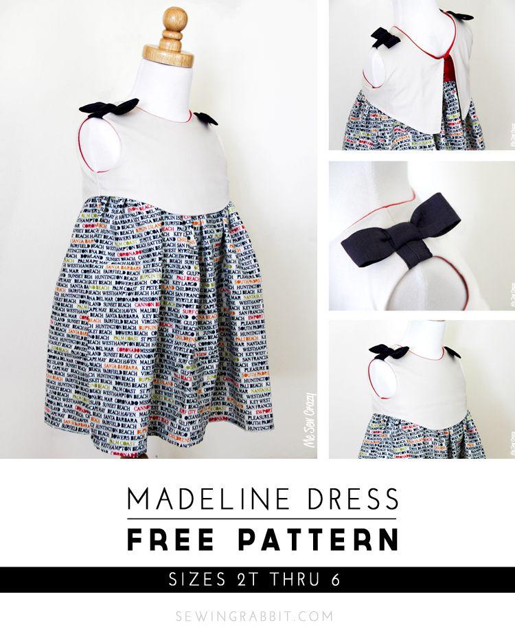 Madeline Dress - Free Pattern | Patron vestido niña, Patrones ...
