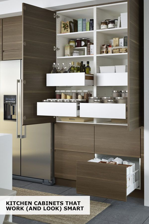IKEA SEKTION Cabinets Help You Find A Space For Everything In Your Kitchen!  Drawers Within Drawers Create Ample Storage Without Adding Clutter, And  Built In ...