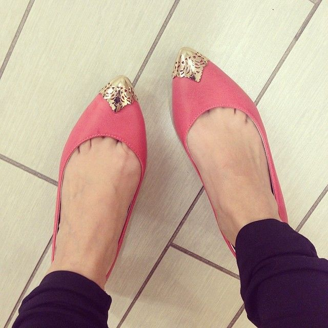 """""""It's #TuesdayShoesday and we're LOVING these @mark_girl Gold Accent Flats for Spring!"""" -avoninsider instagram"""