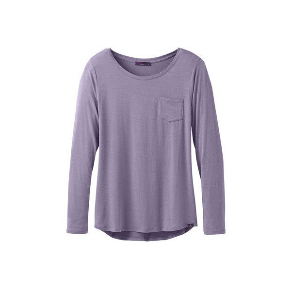 506608566376b Women s Prana Foundation Long Sleeve Crew Neck Top ( 55) ❤ liked on Polyvore  featuring