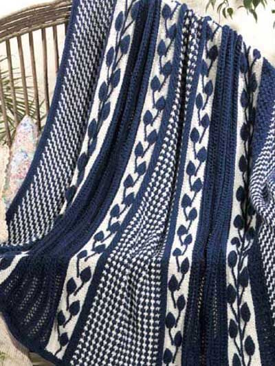 Use This Free Knitting Pattern To Stitch An Afghan Featuring A