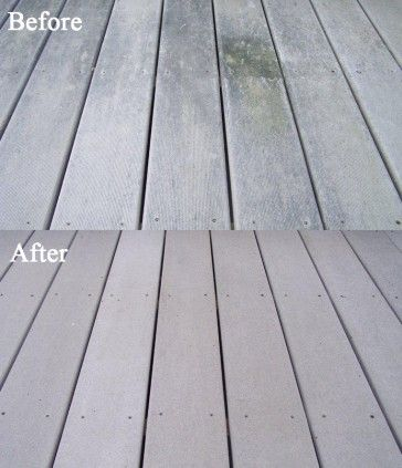 Spray Clean Composite Deck Cleaner Cleaning Composite Decking
