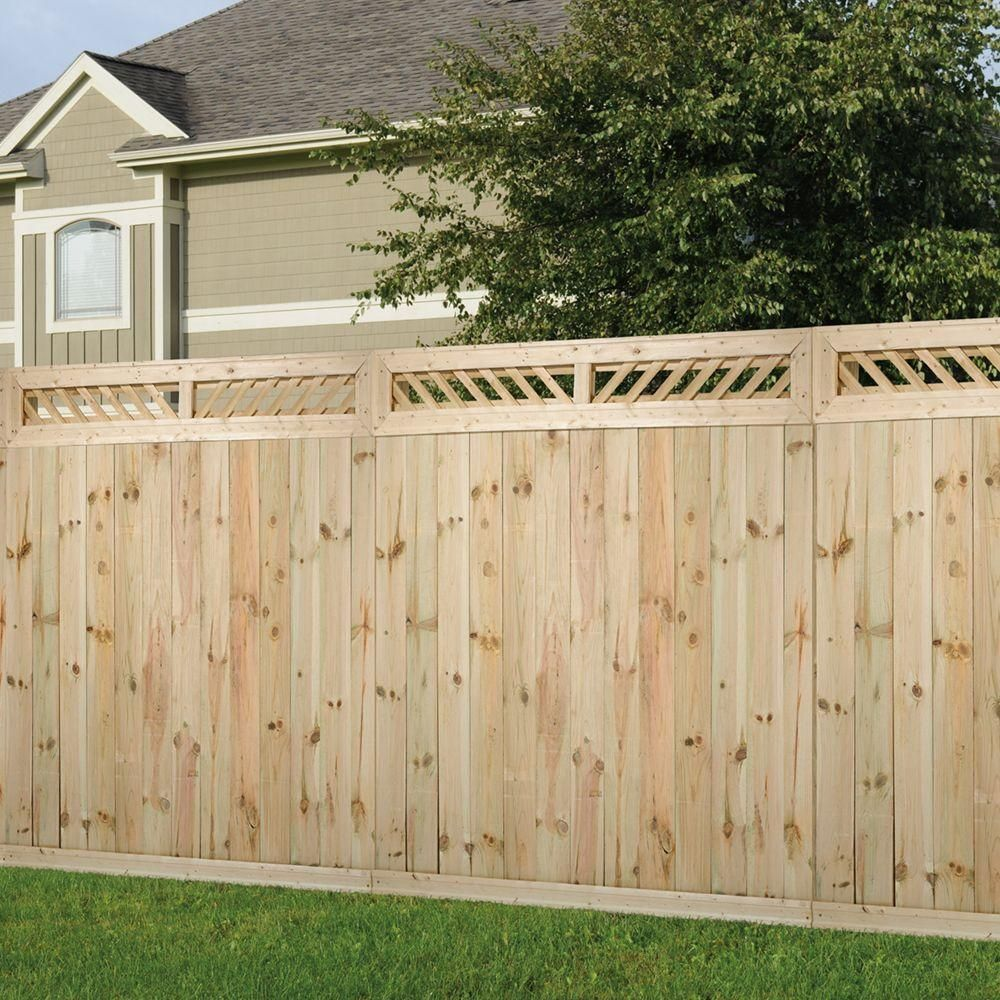 Outdoor Essentials 1 Ft X 6 Ft Decorative Lattice Wood Fence Panel Top Kit 206338 The Home Depot Outdoor Essentials Wood Fence Fence Panels